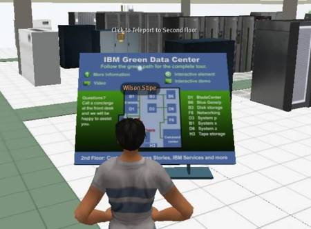 Source: First floor of IBM's Virtual Green Data Center