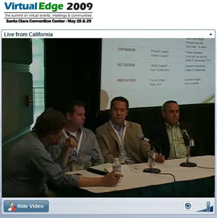Virtual Edge 2009 Panel on Measurement & ROI