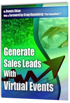 Book Cover: Generate Sales Leads With Virtual Events