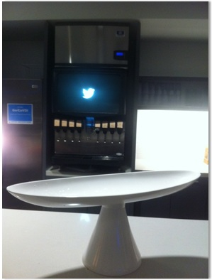 Drink dispenser (with Twitter logo)