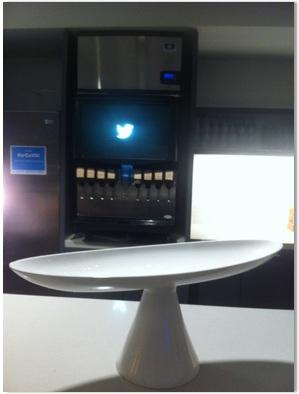 Drink dispenser (with Twitter logo)