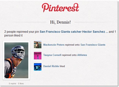 Once the Giants won the World Series, activity on Giants-related pins increased