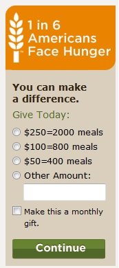 Make a difference by donating to Feeding America