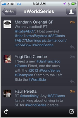 #WorldSeries was a popular hash tag during the Fall Classic
