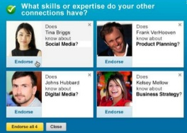 What skills do connections have? Asks LinkedIn