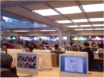 Experience Apple products at Apple Stores