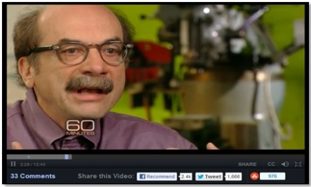 David Kelley speaks about design thinking on 60 Minutes