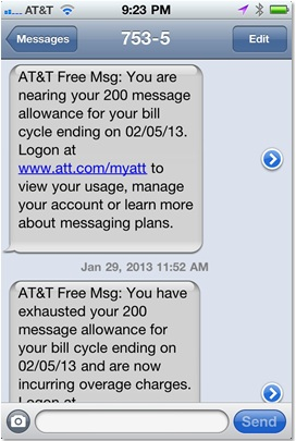 Oops! I texted too much this month