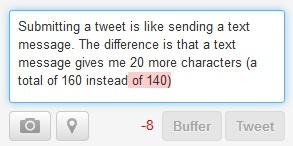 Tweeting is like texting