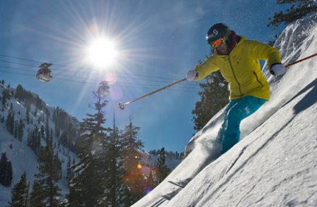 Downhill skiing has similarities to online marketing