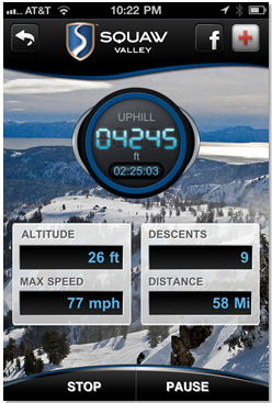 Stats from the Squaw app