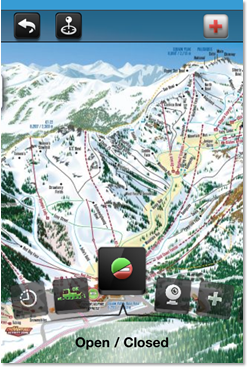 The trail map at Squaw, as seen on their smartphone app