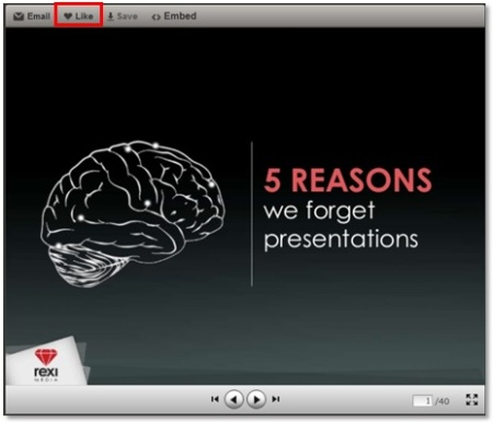 Like a presentation on SlideShare