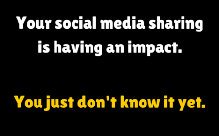 social media sharing makes an impact
