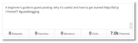 twitter metrics via buffer