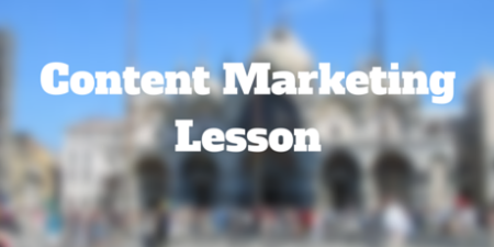 content marketing lesson