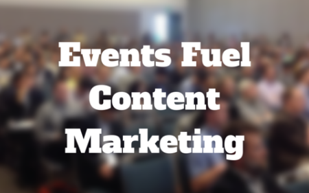 how events fuel the content marketing fire